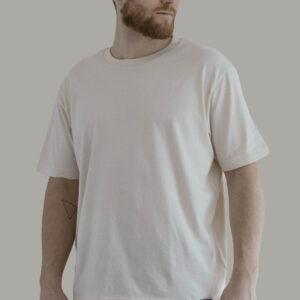 Beige Minimal T-Shirt